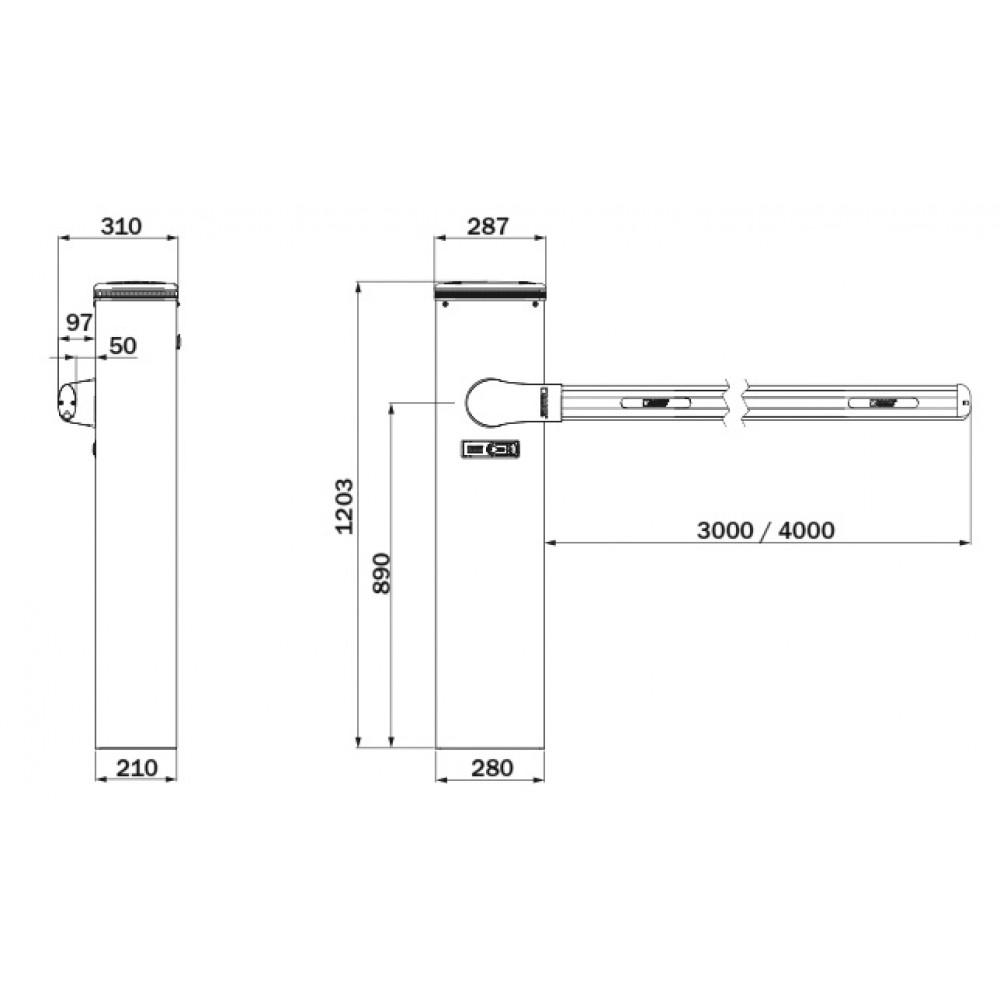 Шлагбаум ROGER BIONIK 4 интенсивный (стрела 4 м)