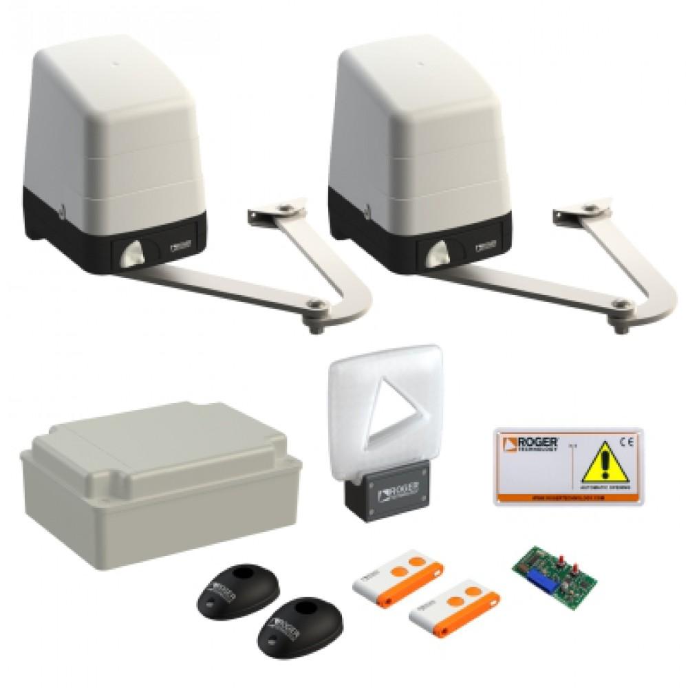 Автоматика для распашных ворот ROGER MAXI KIT SET H23/284 максимальная комплектация